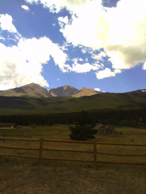 View of Long's Peak from Hwy 7