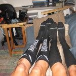 Originally medical compression socks, now sport a new look!