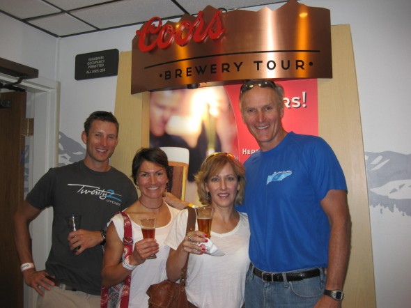Free samples at Coors Brewery