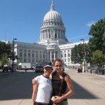 Deirdre and I in front of Capitol Bldg