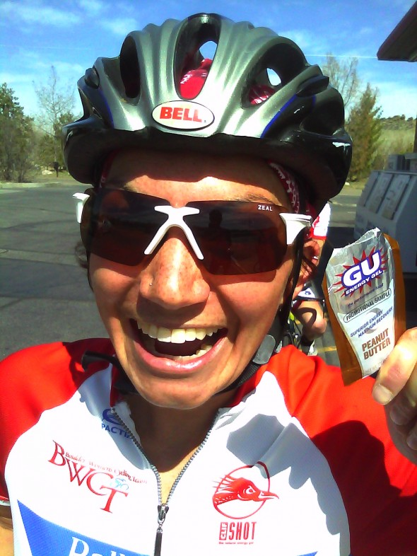 New Zeal sunglasses and my favorite Gu, peanut butter!