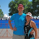 Lucas and Whitney post-race