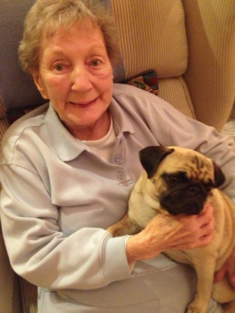 Grammy and Pug
