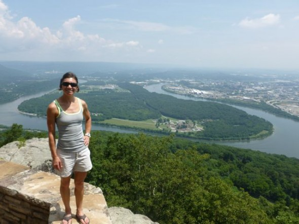 View of the TN River from atop Lookout Mountain