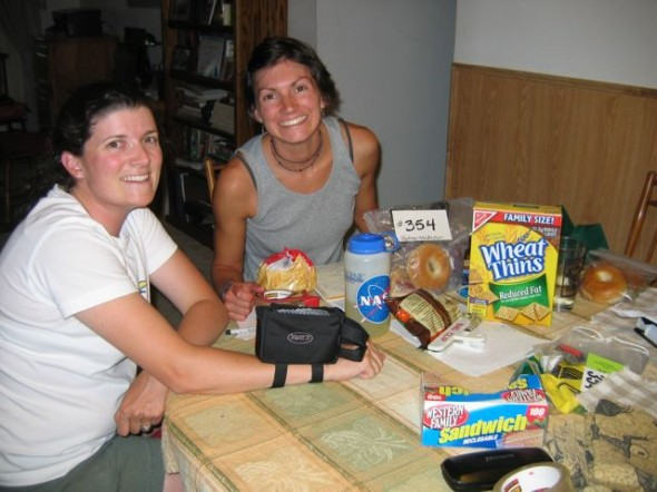 2008 preparing food for the race - how that has changed!