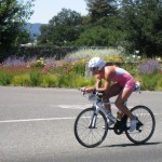 On the bike in 2009