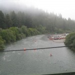 The Russian River; Vineman swim starts and ends at Johnson's Beach