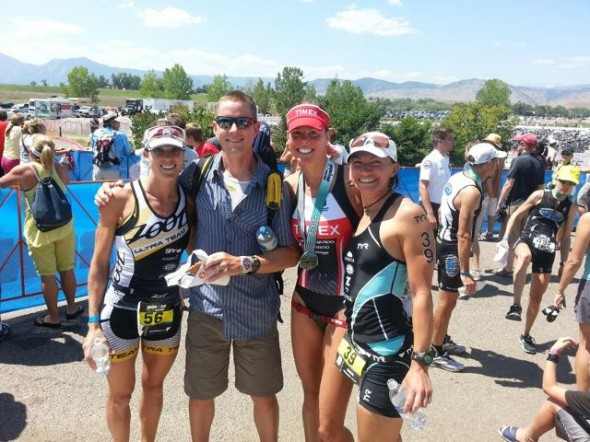 Curt and three of his pro women athletes in 2012 (Mandy McClane, Christine Anderson, Whitney Garcia)