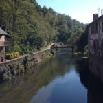 Bridge over river through St Jean Pied de Port, the beginning of the Camino (Frances way)