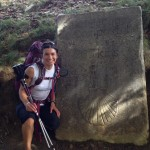 Whit along the trail to Roncesvalles, Spain, first stop.  Total Camino distance about 800 mi.