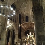 8pm mass in the small, historic, and beautiful chapel at Roncesvalles