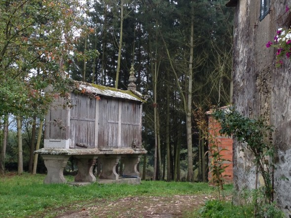 """Granaries (""""horreos"""") are prevelent in Galacia; they were used to store grains (mostly wheat) up off the ground level where rain and pests could get into it."""
