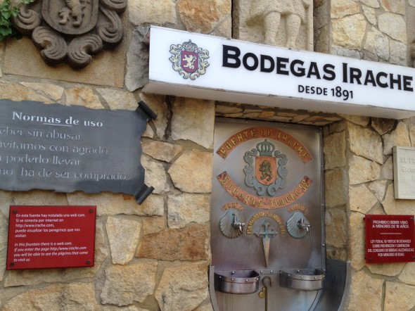 "This ""wine fountain"" was put here many years ago (it probably looked different then!) to sustain thirsty Pilgrims.  Bodegas Irache is a winery and they have this wine dispenser in place, with a few ""rules"" but it's pretty much on the honor system. They provide up to 100 liters of wine per day.  ..Yes, I tried it!"