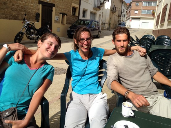 French Group!  Melanie (L), Florence (Middle), Anrique (R).  None of them knew each other before the Camino, either.