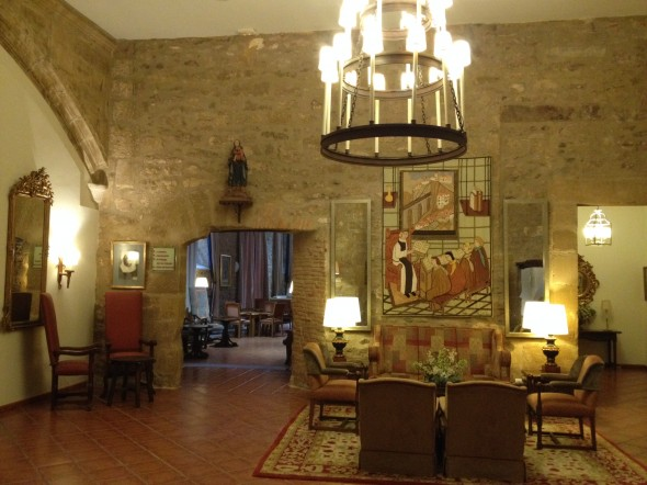 My Parador's sitting area; historic and beautiful.