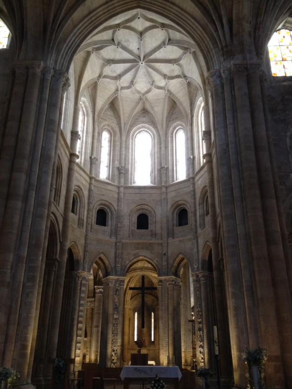 Inside the 12th century cathedral, one of the bigger ones I've seen.  This one also had a museum attached, that for 3 euros (pilgrim's price), I could explore.