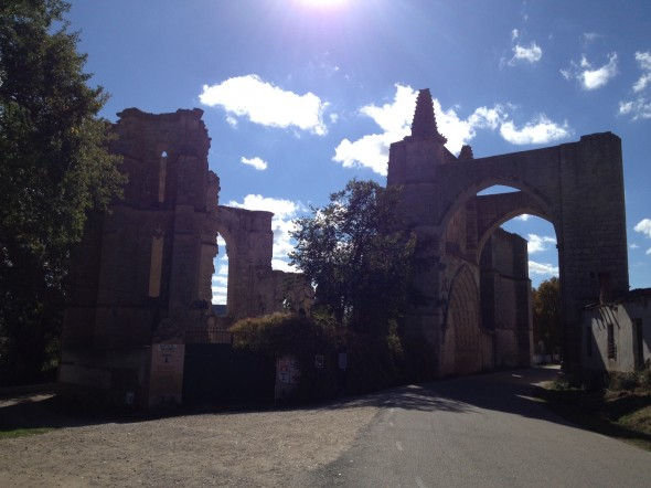 The ruins of ancient Convento de San Anton right along the Camino; I passed under it arond 3pm under a brillian-blue sky and felt in awe of the history there.