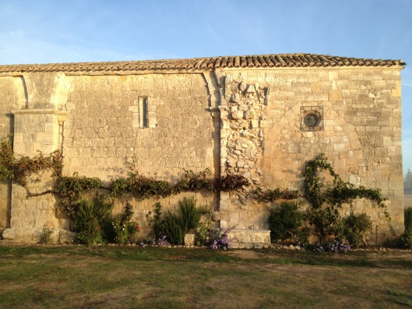 A back view of San Nicolas church/albergue (the main building with no electricty)