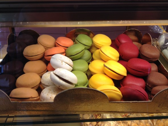 Beautiful and delicious macrons - I bought a chocolate, hazelnut, and pistachio.