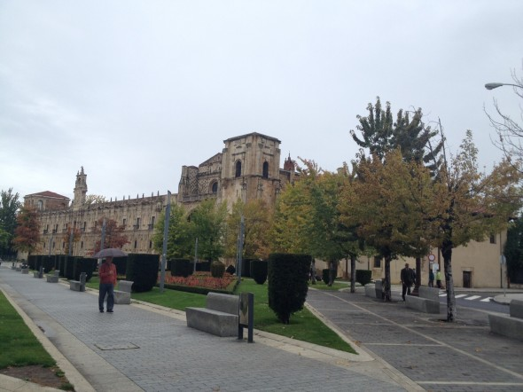 Approaching the Parador (historic building made into a fancy hotel) in Plaza San Marcos; part of it is a museum as well.  I just walked into the lobby, which was amazing and beautiful.