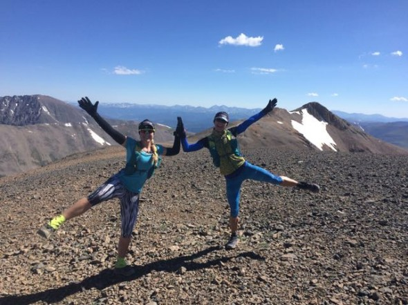 We summited 5 14ers in one day; 4 were pretty close together: Mt Democrat, Lincoln, Cameron, Bross.  Then we drove to Mt Quandary and did it, too!
