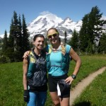 All this training so we could successfully run/hike 97 miles around Mt Rainier!