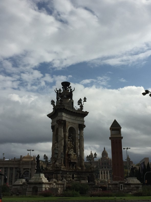 Plaza de Espana, within walking distance from the main Train Station in Barcelona