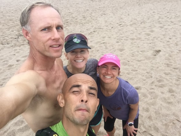 Morning run with the Boulder-ites and Pablo (silly face)