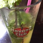 """Mojitos are everywhere here; the Cuban rum """"El ron de Cuba"""" is smooth and the mint sprigs are always fresh!"""