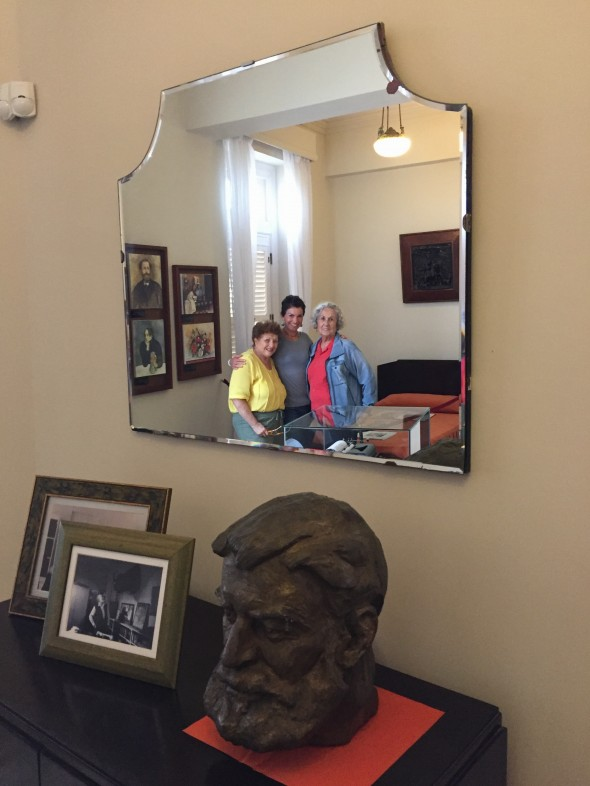 """Earnest Hemmingway's regular room in the Old Havana hotel """"Ambos Mundos""""; we got a tour of the room and a history lesson on Hemmingway's relationship with Cuba (he loved it)"""