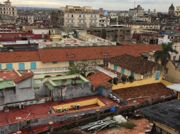 A rooftop view into Old Havana