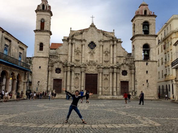 Me in one of the Old Havana squares, in front of a 18th Century cathedral.  There aren't nearly as many cathedrals here as there are in European cities!