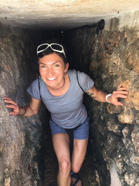 Walking through the low-ceilinged tunnels utilized during the Cuban Missile Crisis