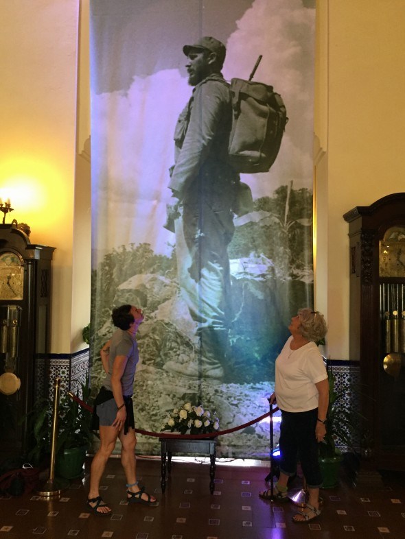 Images of Fidel appear everywhere in Havana.  This fabric hanging was in the lobby of the Cuban National Hotel.