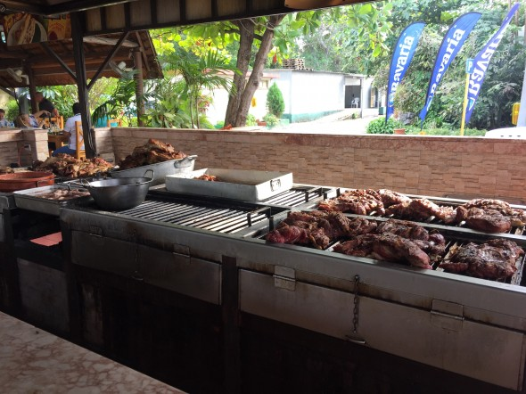 Cuban BBQ...pork is the specialty, and sometimes no other meat choices are offered.  It's sooo delicious!
