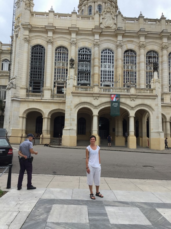 In front of the Museo de la Revolucion (Revolution Museum)