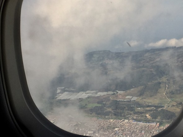 Not a great photo, but my first view of Bogota out of the plane window