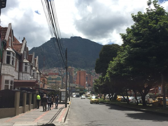 Mountains are on the East side of the city, which helps with orienting oneself.